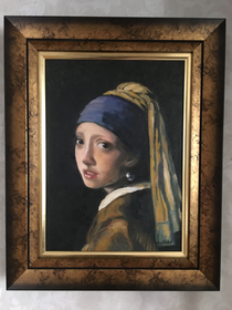 真珠の首飾りの少女 模写クリエイト