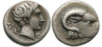Caria; Halikarnassos 500-400 B.C.; Hemiobol
