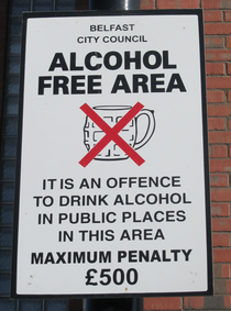Alkoholverbot in Belfast