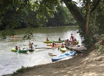 séance canoe encadrée par un guide