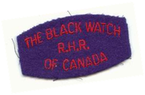 The Black Watch Regiment of Canada arm titel