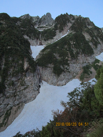 北方稜線全景。