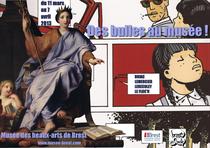 René-Antoine Houasse, Allégorie de l'Éloquence, Musée des beaux-arts de Brest et Bruno Le Floc'h, planche 18 de l'album Saint-Germain, puis rouler vers l'ouest ! paru aux éditions Dargaud en 2009. DR.
