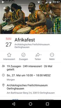 Ich erzähle am 27.05.2018 afrikanische Märchen im Museum