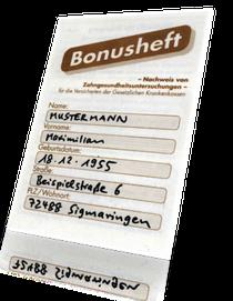 Bares Geld wert: Ihr Bonusheft