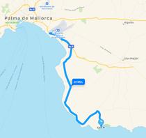 In 30 Minuten vom Flughafen Palma de Mallorca nach Cala Pi. Und das auch noch auf einer der schönsten Küstenstraßen Mallorcas mit herrlichem Meerblick.