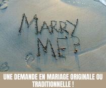 Une demande en mariage originale ou traditionnelle