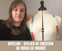 Arteline - Atelier de création de robes de Mariée - Tous droits réservés©