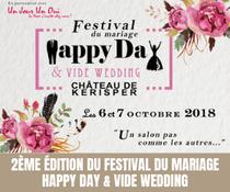 """2ème édition du festival du mariage """"Happy Day"""" & Vide Wedding"""