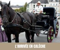 A chaque semaine, son moyen de transport original pour les mariés ! Calèche