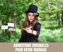Retrouvez des animations originales pour votre mariage
