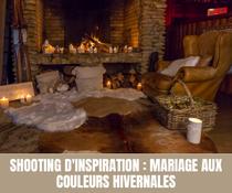 Shooting d'inspiration : Mariage aux couleurs hivernales