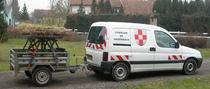 Véhicule Peugeot Partner diesel avec remorque