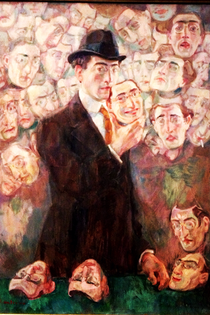 Raphael Chanterou «Uomo con maschere» 1930