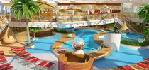 Beach Club von AIDAnova // © AIDA Cruises