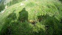 Alpen Italien Südtirol E5 Wandern Berge Weide Wiese Rast Picknick