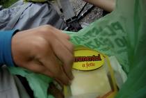 Alpen Italien Südtirol Emmentaler Käse Brot E5 Wandern Berge