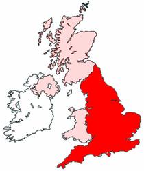 L'Angleterre, une des régions britanniques