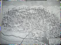 Sarajevo,Panoramski Prikaz,F.N.Sparra de Banstrorf,1697.godine