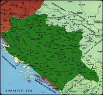 Karta sandžaka bosanskog ejaleta na teritoriju BiH oko1600