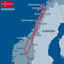 2020: Übernachtung auf den Lofoten in Henningsvær statt in Svolvær und in Steinkjer statt Verdal