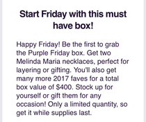 Description of Sugarbash's Purple Friday Box