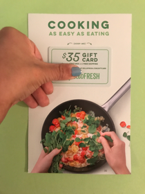 Front of Hello Fresh Coupon