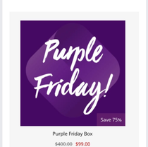 Purple Friday box by Sugarbash