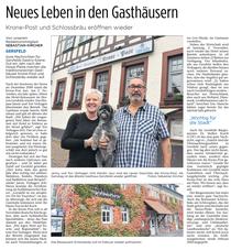 Heute, 29.10. in der FZ: Gute Nachrichten für die Gastronomie in Gersfeld :-)