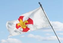 L'Unilysée, le drapeau de l'association des aventuriers de Baden-Powell