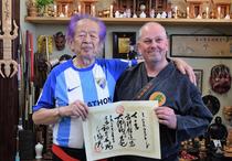 Michael bei der Verleihung des Dai Shihan Titels im Honbu Dojo, 2018
