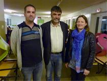 Nicolas Sellier et Emilie Breton aux côtés de Jean-François Laurent
