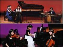 発表会ではプロの演奏家とアンサンブル体験