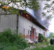 Die Scheune wurde beim Brand komplett zerstört.Foto: Polizei