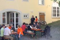 Das Cafe Miteinand befindet sich im Innenhof