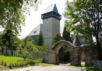 Blick auf der Kirche in Geyer