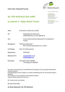 Turnier-Einladung Weilerbach 2014