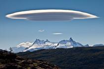 Nube lenticular espectacular