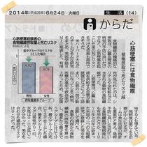 愛媛新聞 2014.06.24掲載