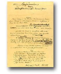 Faksimile der Pariser Basis