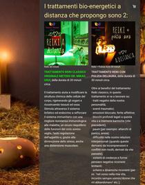 Nuova pagina del sito sui trattamenti benessere a distanza