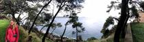 Blick von der Burg in Pylos auf die Bucht