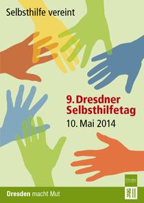 Titelbild der Infokarte Selbsthilfetag 2014 der LH Dresden (für die Anzeige der kompletten Karte bitte aufs Bild klicken)