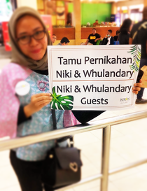 Empfang am Flughafen von Jogjakarta