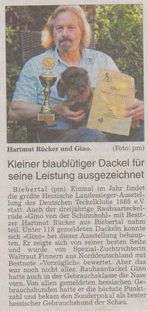 Hartmut Rücker und sein Dackel