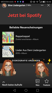 Auch auf Spotify erhältlich 🌻🌿💚💜