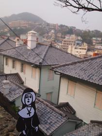 東山手の洋風住宅群からの眺めです