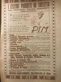 Pubblicità prodotti Pim-1917/18