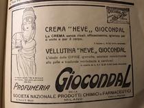 Pubblicità crema Neve Giocondal- anni '20