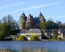 Une vue du château de Combourg